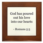 Romans 5:5 Framed Tile