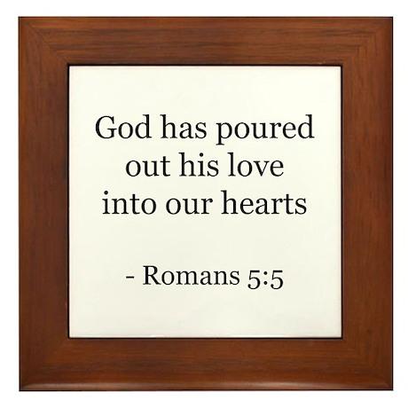 Romans 5:5 Framed Tile