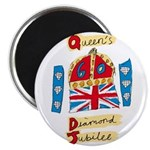 Official Diamond Jubilee Logo/Emblem Magnet