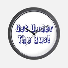 Get Under The Bus Wall Clock