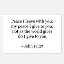 John 14:27 Postcards (Package of 8)