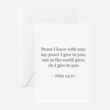 John 14:27 Greeting Cards (Pk of 10)