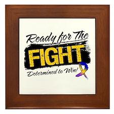 Ready Fight Bladder Cancer Framed Tile