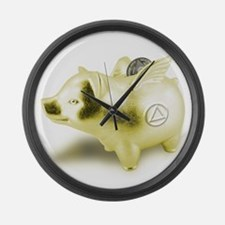 AA Pigs Fly - Large Wall Clock