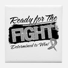 Ready Fight Brain Cancer Tile Coaster