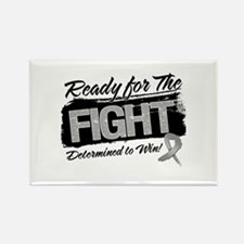 Ready Fight Brain Cancer Rectangle Magnet