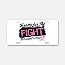 Ready Fight Breast Cancer Aluminum License Plate