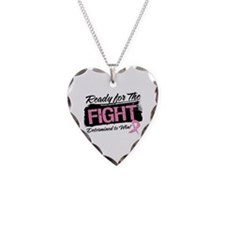 Ready Fight Breast Cancer Necklace Heart Charm