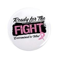 "Ready Fight Breast Cancer 3.5"" Button (100 pack)"
