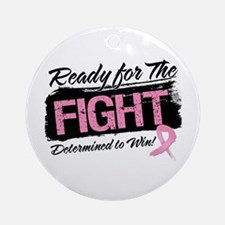 Ready Fight Breast Cancer Ornament (Round)