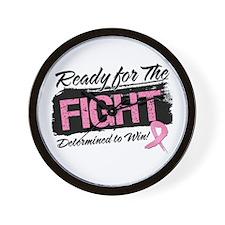 Ready Fight Breast Cancer Wall Clock