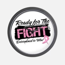 Ready Fight Breast Cancer Wall Clock
