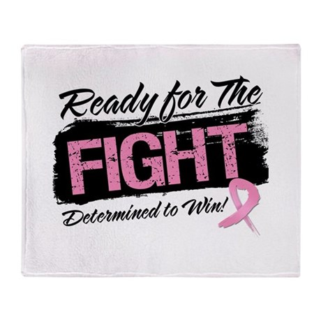 Ready Fight Breast Cancer Throw Blanket