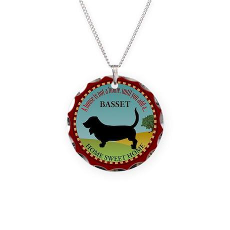 Basset Necklace Circle Charm