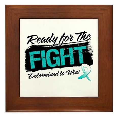 Ready Fight Cervical Cancer Framed Tile
