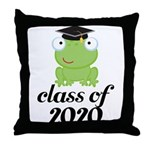 Class of 2020 Frog Throw Pillow