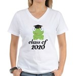 Class of 2020 Frog Women's V-Neck T-Shirt