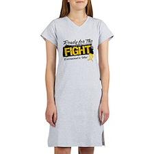 Ready Fight Childhood Cancer Women's Nightshirt