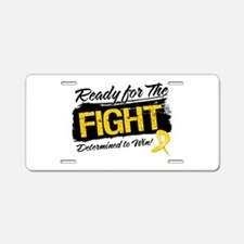 Ready Fight Childhood Cancer Aluminum License Plat