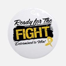 Ready Fight Childhood Cancer Ornament (Round)
