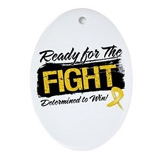 Ready Fight Childhood Cancer Ornament (Oval)