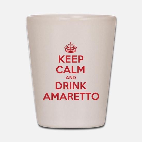 K C Drink Amaretto Shot Glass