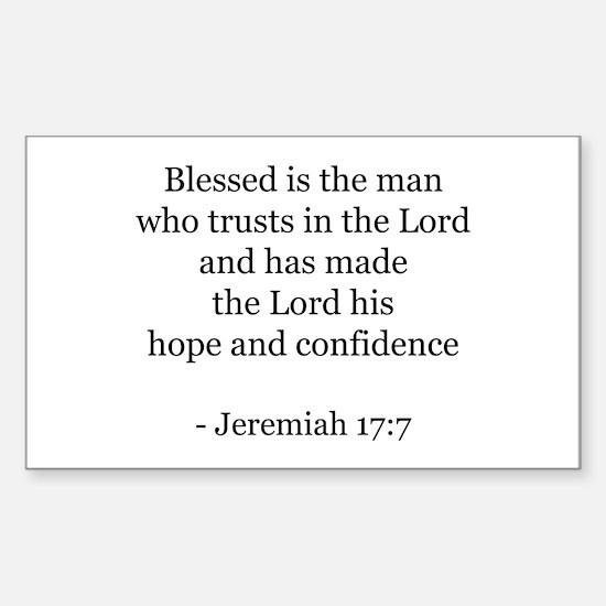 Jeremiah 17:7 Rectangle Decal