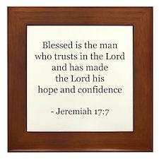 Jeremiah 17:7 Framed Tile