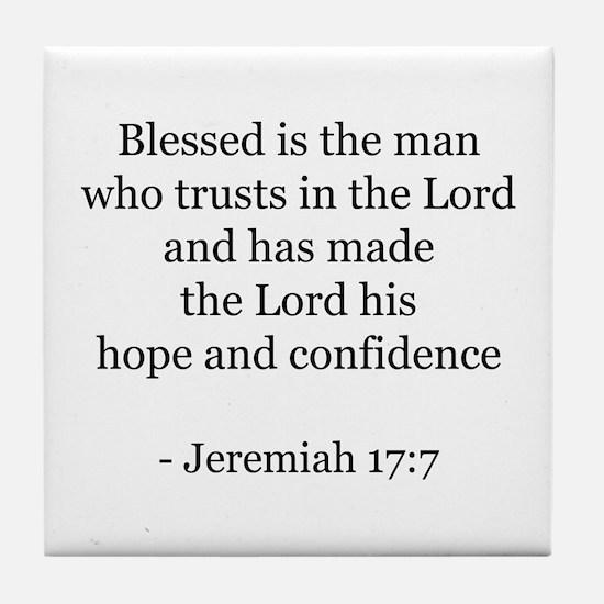Jeremiah 17:7 Tile Coaster
