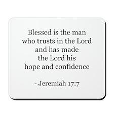 Jeremiah 17:7 Mousepad
