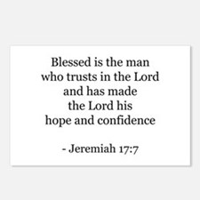Jeremiah 17:7 Postcards (Package of 8)