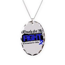 Ready Fight Colon Cancer Necklace Oval Charm