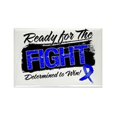 Ready Fight Colon Cancer Rectangle Magnet