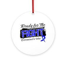 Ready Fight Colon Cancer Ornament (Round)