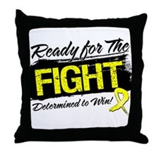 Ready Fight Ewing Sarcoma Throw Pillow
