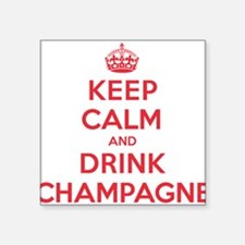 "K C Drink Champagne Square Sticker 3"" x 3"""