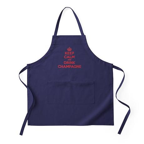 K C Drink Champagne Apron (dark)
