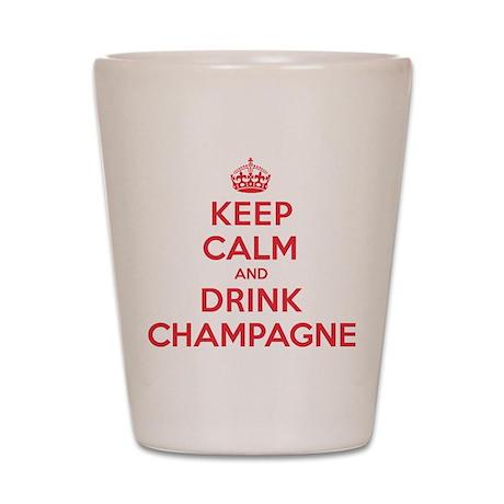 K C Drink Champagne Shot Glass