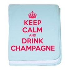 K C Drink Champagne baby blanket