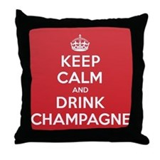 K C Drink Champagne Throw Pillow