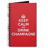 Keep calm and drink champagne Journals & Spiral Notebooks