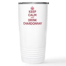 K C Drink Chardonnay Travel Mug