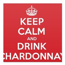 "K C Drink Chardonnay Square Car Magnet 3"" x 3"""