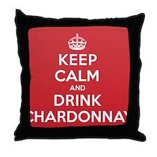 K C Drink Chardonnay Throw Pillow