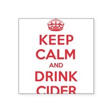 "K C Drink Cider Square Sticker 3"" x 3"""