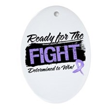 Ready Fight General Cancer Ornament (Oval)