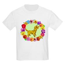 Dog in Flower Frame T-Shirt