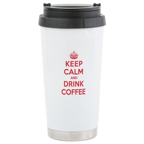 K C Drink Coffee Stainless Steel Travel Mug