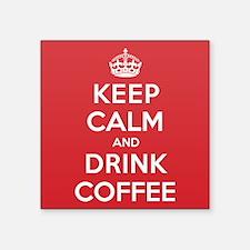 "K C Drink Coffee Square Sticker 3"" x 3"""