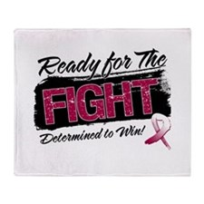 Ready Fight Head Neck Cancer Throw Blanket